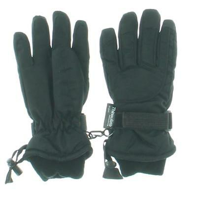 Thinsulate Boys Black Kid Contrast Trim Casual Winter Gloves 3-4 Years BHFO 3167