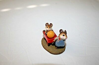 Wee Forest Folk RED WAGON miniature mice mouse M151 WFF 1987