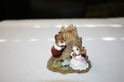 Wee Forest Folk fs02 HEARTS AND FLOWERS mice 1989 dating love romance
