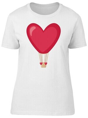 Cute Hot Air Balloon Pink Heart Women's Tee -Image by Shutterstock