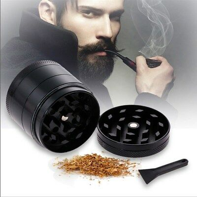 4-Piece Herb Grinder Spice Tobacco/Weed Smoke Zinc Alloy Crusher Leaf Design