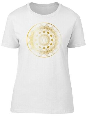 Cool Golden Floral Mandala Women's Tee -Image by Shutterstock