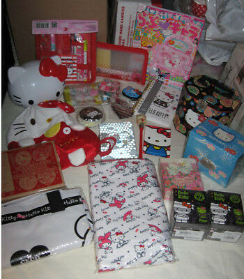 Hello Kitty Lot: Totes, Stationery Items, Bank, Storage, etc.