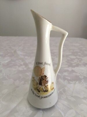 "Holly Bobbie Small Jug 1974 ""A true friend is the best possession"""