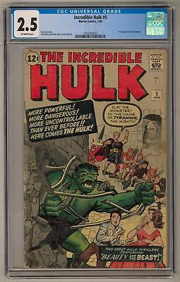 Incredible Hulk #5 CGC 2.5 (OW) 1st Appearance of Tyrannus