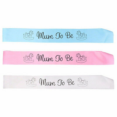 Mummy To Be Baby Shower Boy Girl Sash Personalised Party Sashes