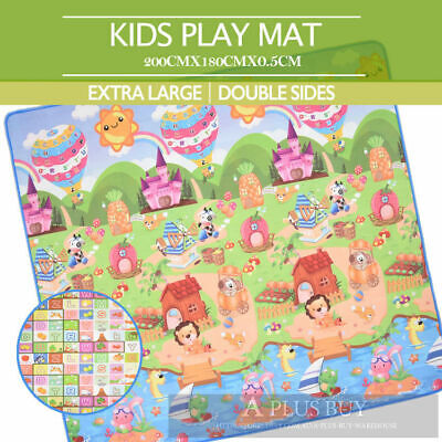 2x1.8m EF Large Baby Toddler Floor Rug Play Mat Animal Alphabet 5mm Thick XL