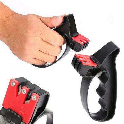 2 in 1 Handheld Scissors  Knife Sharpener Tools with Hand Guard Easy Use""