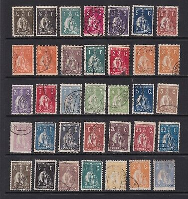 Portugal - Good Run of Definitive Stamps  2 SCANS (0602)