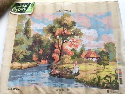 Semco Large Unworked Tapestry Cross Stitch Embroidery Canvas, 45 x 60cm Denmark