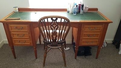 Antique leather Top desk And chair