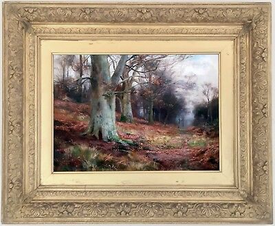 Heath Wood Derbyshire Antique Oil Painting by William Lakin Turner (1867-1936)