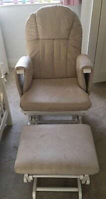 Kiddicare Natural Nursing Glider maternity gliding rocking chair with footstool
