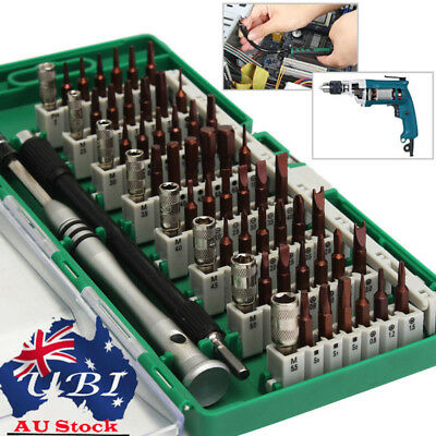 60 In 1 Precision Torx Screwdriver Bit Set Hex Star Tweezer Repair Mini Tool AU