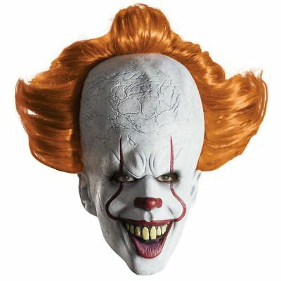 Official 2017 Pennywise IT Clown Overhead Realistic Mask Fancy Dress Cosplay New