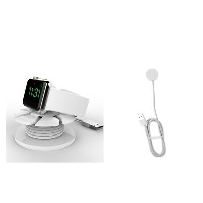 MagiDeal For Apple Watch iWatch 38mm 42mm Magnetic Charger + Cable Organizer