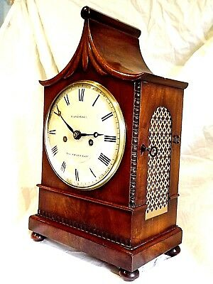 Fine Quality Mahogany Twin Fusee Bracket Clock C1830/40