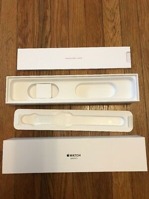 Apple Watch Series 3 42mm BOX ONLY Space Gray Aluminum - No Watch or Band!