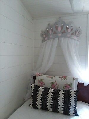 LARGE CANOPY NURSERY PRINCESS CROWN  WALL DECOR  BABY Magnolia Chic Cottage
