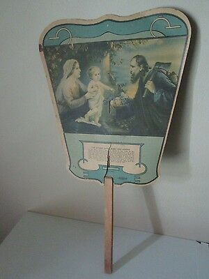 Christian Hand Fan Vintage - HAINES THE SHOE WIZARD - Vintage Jesus Fan