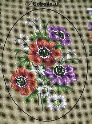 Pretty Oval Bouquet Tapestry To Stitch