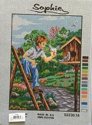 Boy At Birdhouse Tapestry To Stitch