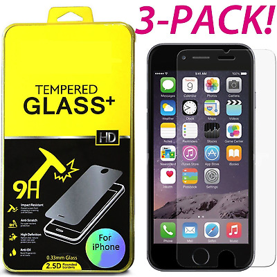 3-Pack Premium Tempered Glass Screen Protector for Apple iPhone 6s 4.7""