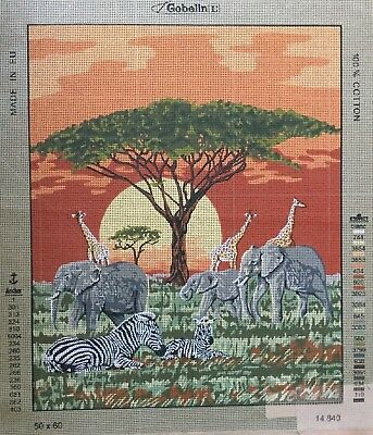 African Animals Tapestry To Stitch
