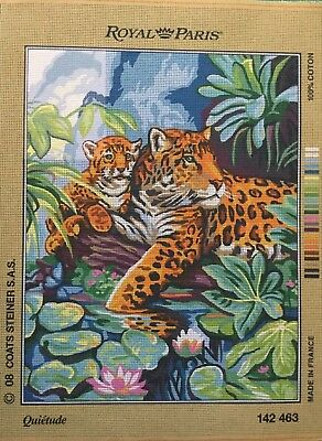 Leopard And Cub Tapestry To Stitch