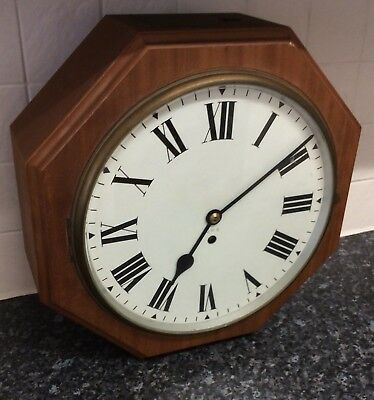 A Truly Stunning Wooden Gpo Clock With ***fusee Movment***