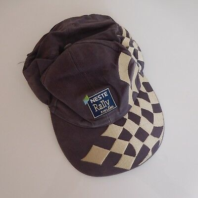 Casquette NESTE RALLY FINLAND Sport automobile Collection vintage XXe PN France