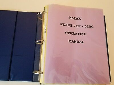 Mazak Nexus VCN-510C Operating Manual