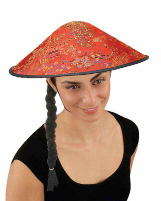 1ec6b520f13 Coolie Pointed Hat Braid Chinese Costume Conical Rice Farmer Sun Japanese  Asian