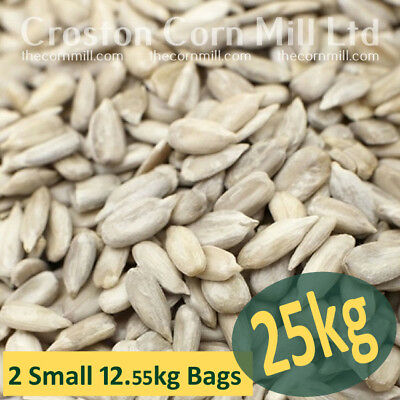 25kg (2x12.55kg) Sunflower Hearts Wild Bird Food PREMIUM BAKERY GRADE Dehulled