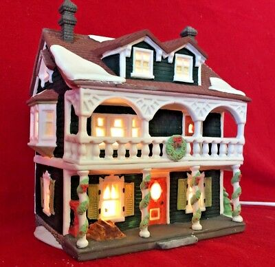 Captains Cottage Dept 56 New England Village 59471 Christmas snow house home A