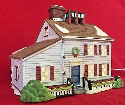 Jeremiah Brewster House Dept 56 New England Village 56570 Christmas snow city A