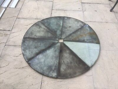 Vintage plate glass segments forming a circle of approx 1050 mm