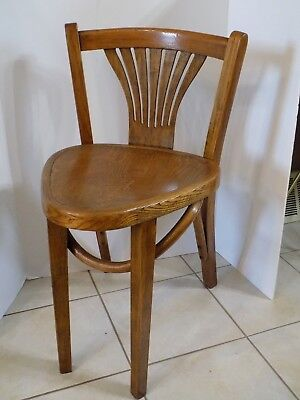 Vintage Solid Wood Corner Chair  Oak 3 Legs Unusual RARE!!  (r14)