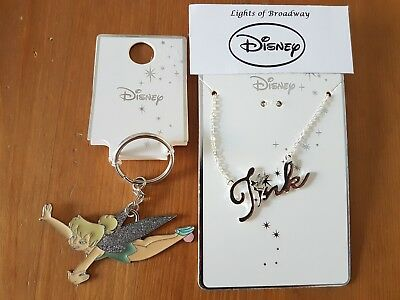 Disney Tinkerbell Key Chain and Necklace Primark NEW