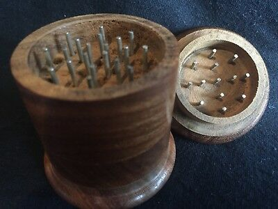 Wooden Tobacco Grinder 2. inch Wood Spice/Herb Crusher 4part NEW Vintage Classi