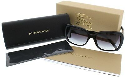 NWT Burberry Sunglasses BE 4160 3433/8G Black / Gray Gradient 58 mm 34338G NIB