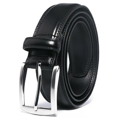 FV Men's Classic Dress Leather Belt, 1.33''width, big and tall, 30''-60''