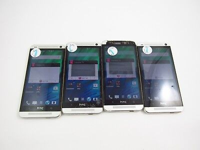 Lot of 4 Cracked HTC One M7 PNO7130 T-Mobile Check IMEI 5CR 115