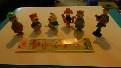 Set of 6 Vintage 1995 KINDER SURPRISE YOGI BEAR Figures w/Papers Free Shipping!