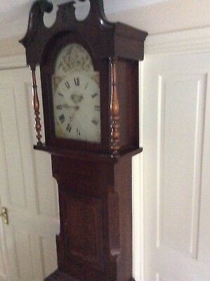 Victorian grandfather longcase clock