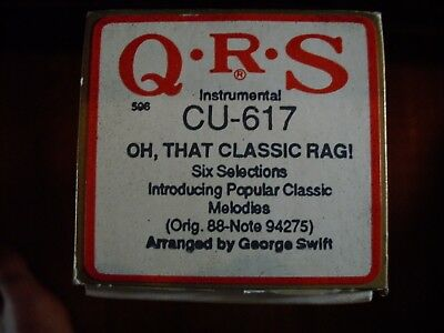 "QRS Player piano roll ""OH,THAT CLASSIC RAG ! "" six selections #CU-617"