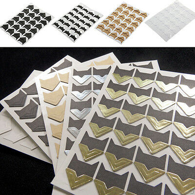 24pcs Self-adhesive Card Photo Frame Corner Stickers 3D  Scrapbook Album!