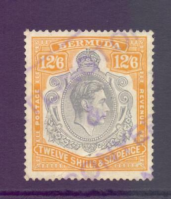 Bermuda KGVI SG120 12s6d High Value Perf 14 Fine Fiscally Used