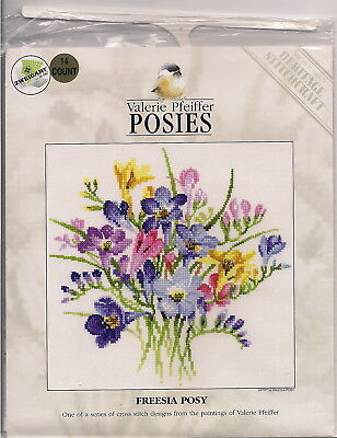 """Heritage (Valerie Pfeiffer) Counted Cross Stitch Chart - """"Freesia Posy"""""""