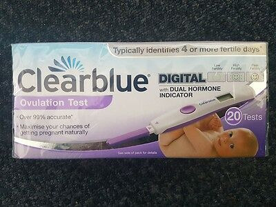 Clearblue Digital Ovulation Test with Dual Hormone Indicator x 20 pack (Violet)